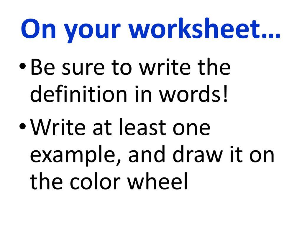 Color Wheel Color Schemes Ppt Download