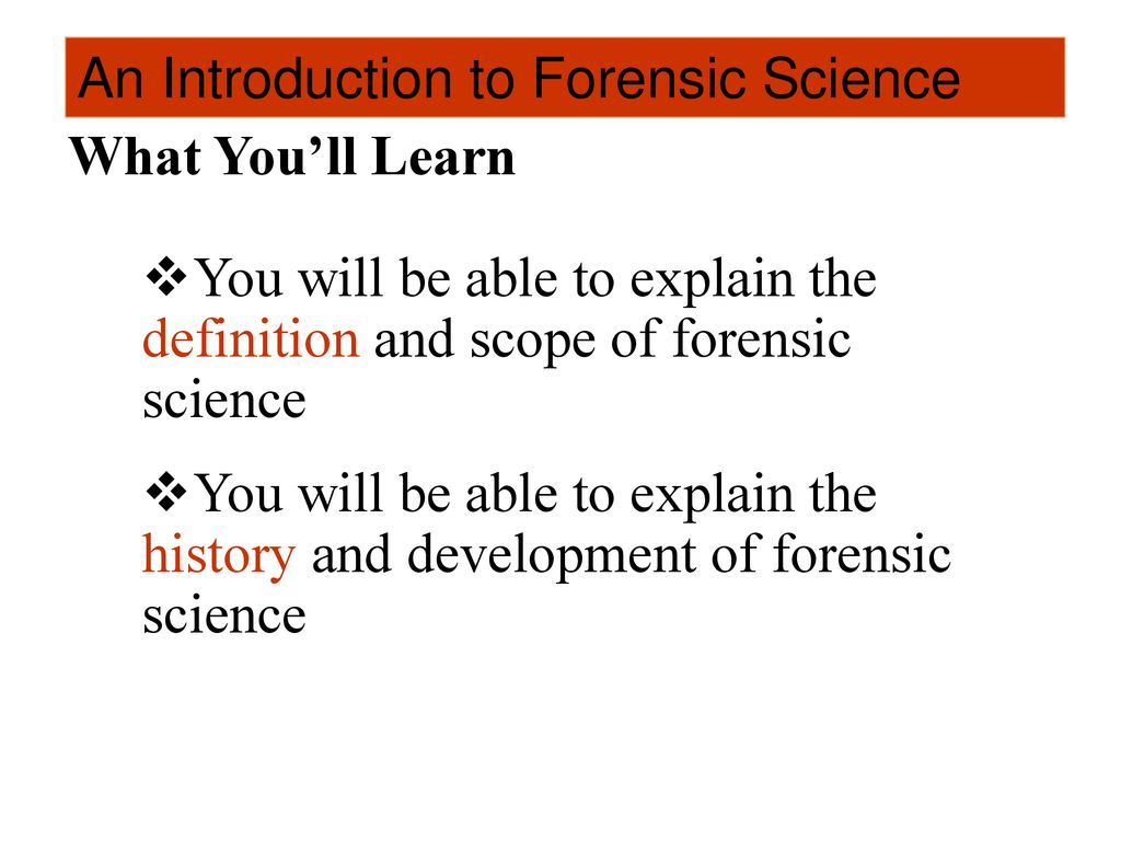 an introduction to forensic science - ppt download