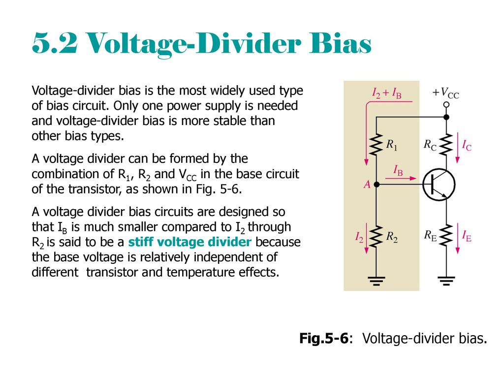 Chapter 5 Transistor Bias Circuits Ppt Download Voltage Divider Give You Power Over The 52 Fig5 6