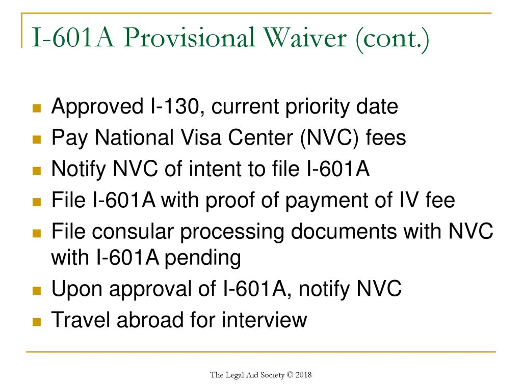 Filing fee for 601a