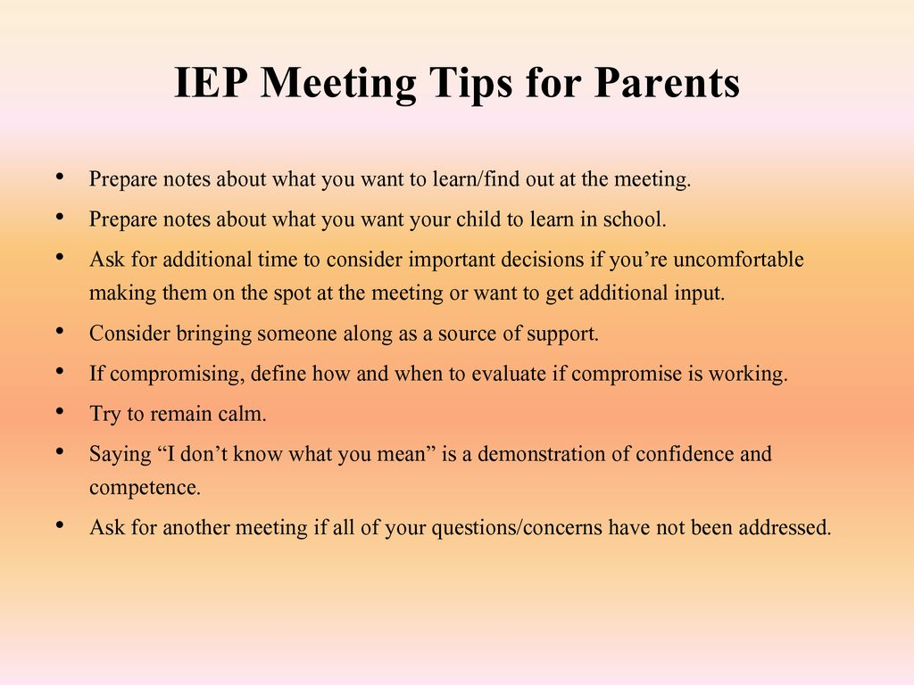 Iep Tips For Parents >> Collaborative Iep Meetings Ppt Download