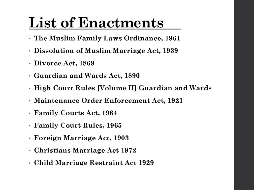 FAMILY LAW IN PAKISTAN By Amna Abbas  - ppt download
