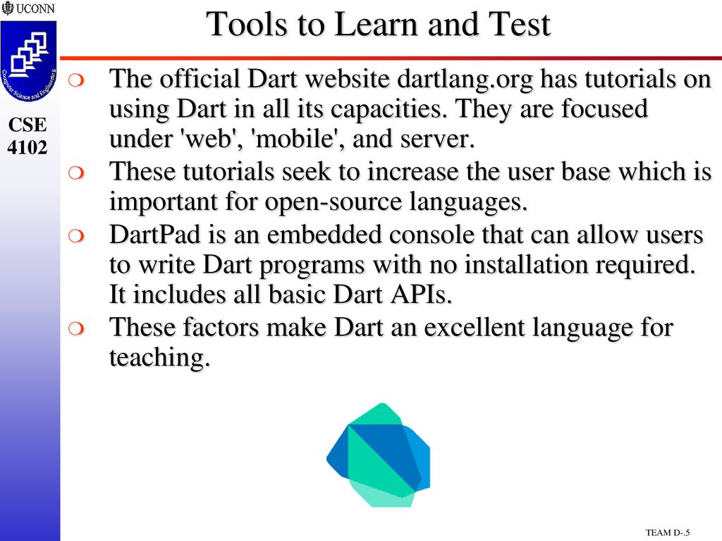 CSE4102/5102 Team Project Dart Programming Language - ppt download