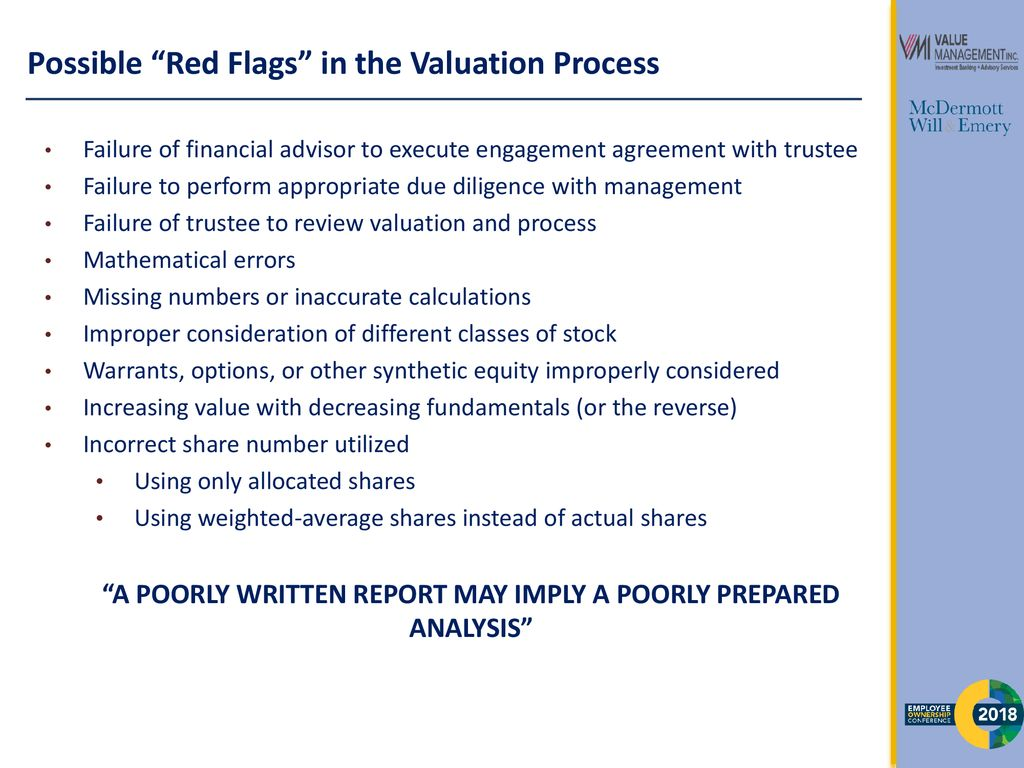 ESOP Fiduciary Responsibility for Value Determination - ppt download