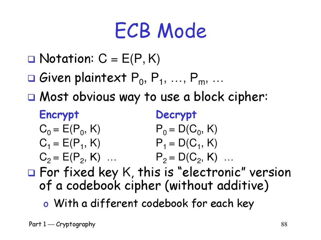 Part I: Crypto Part 1  Cryptography ppt download