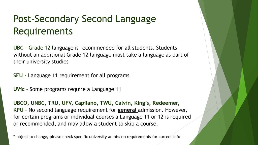 Things to consider: LCS Graduation Program requirements