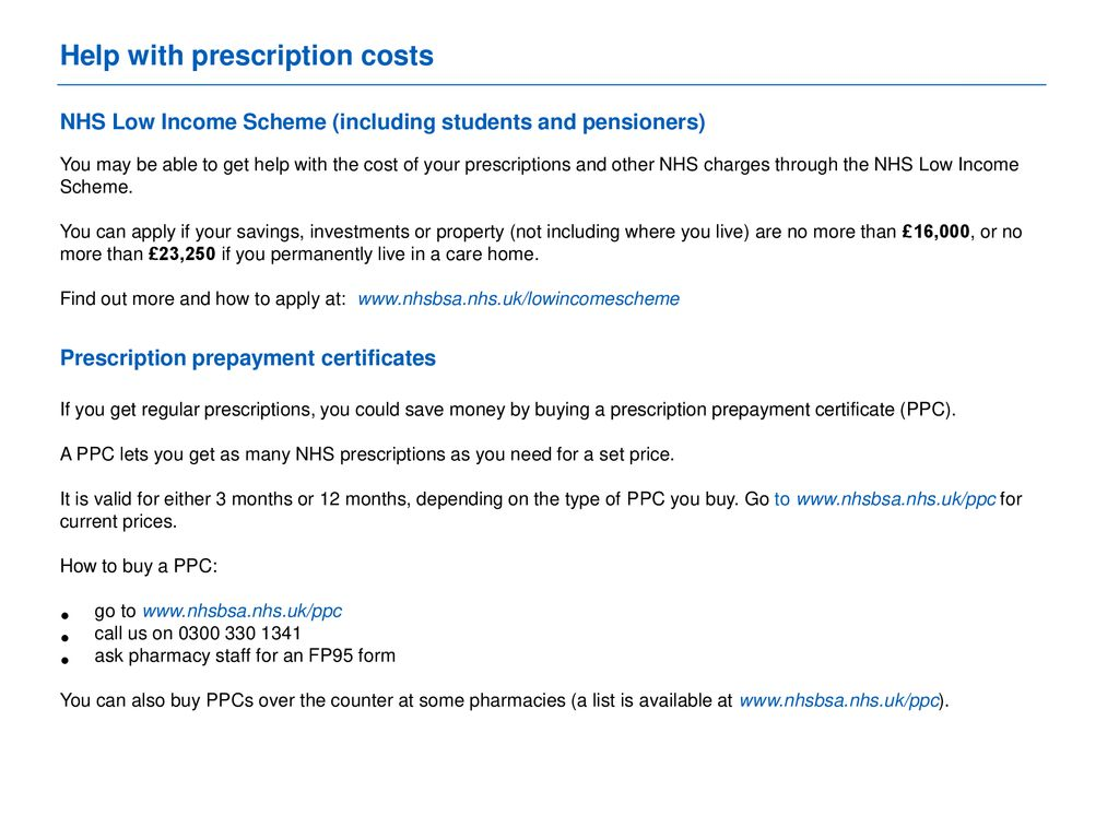 are you claiming free prescriptions? - ppt download