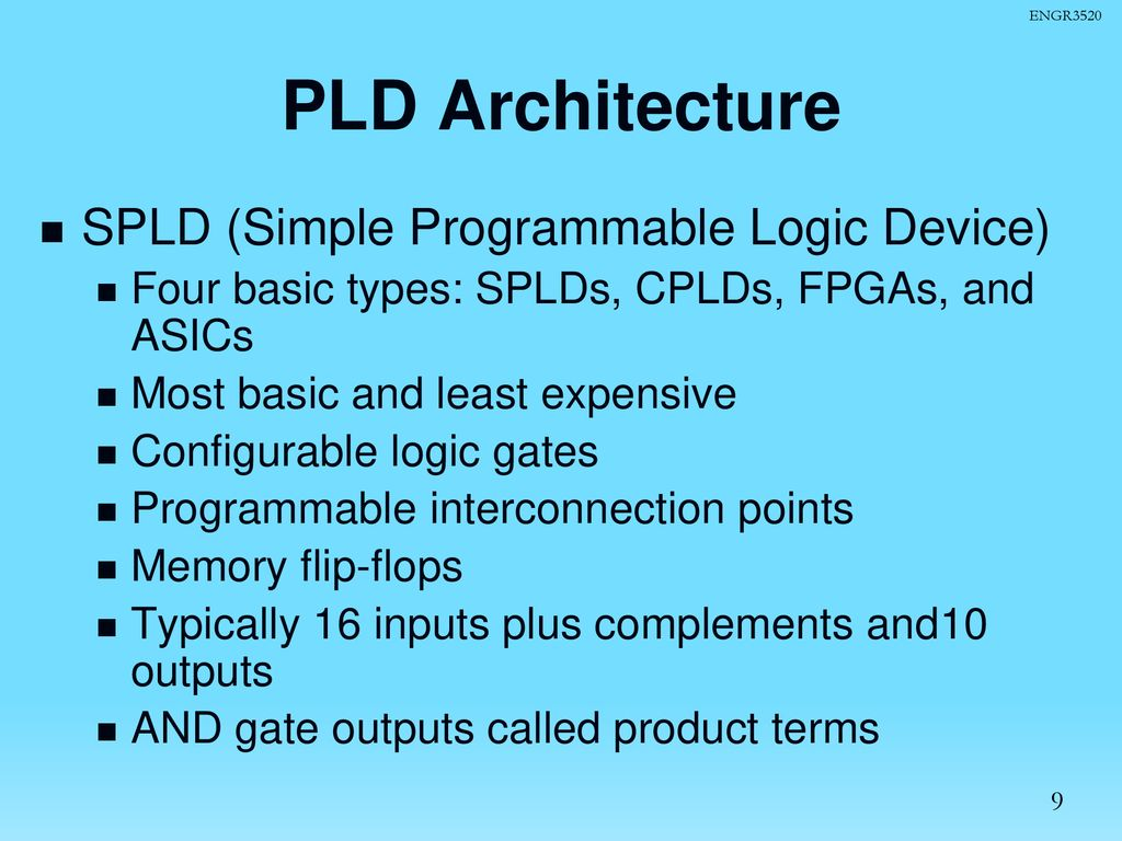 Programmable Logic Devices Cplds And Fpgas With Vhdl Design Ppt Download