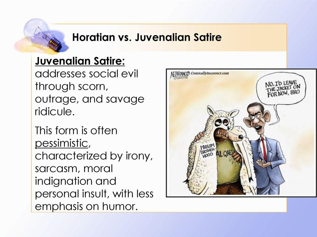 horatian and juvenalian satire