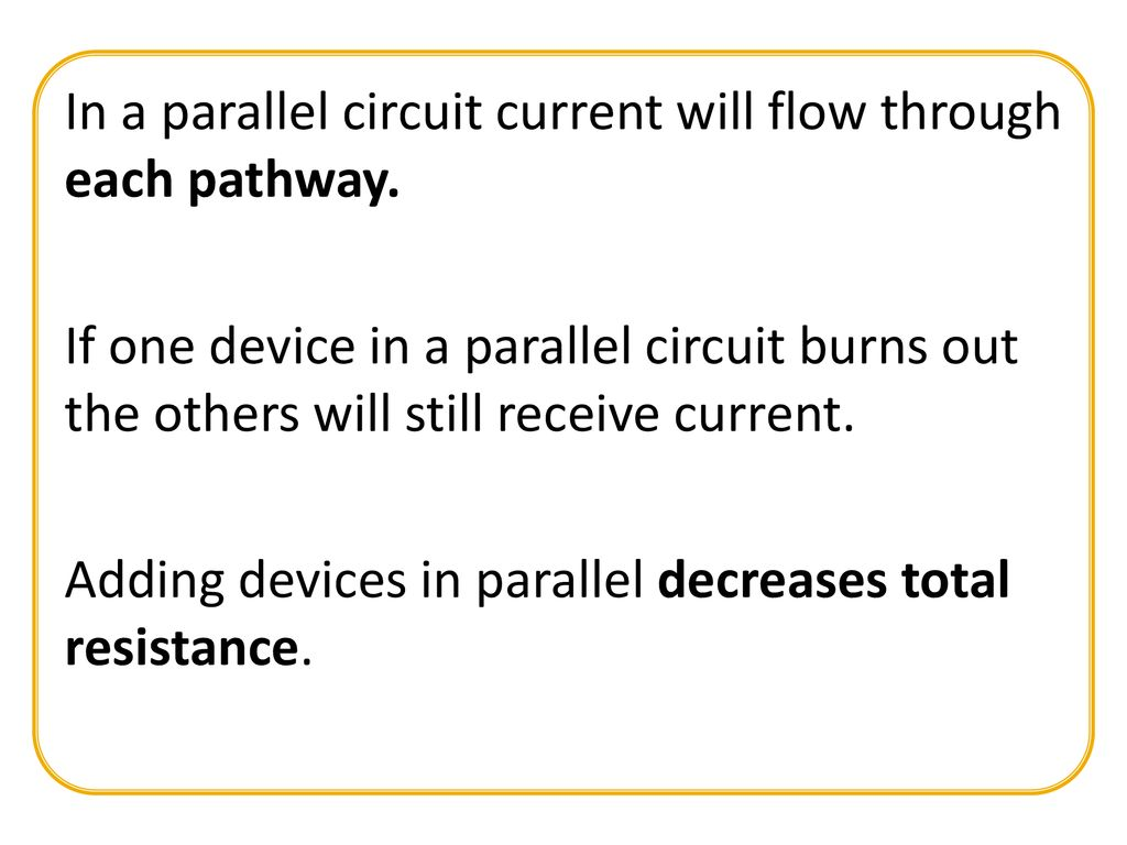 Resistors In Series And Parallel Ppt Download Circuit Current A Will Flow Through Each Pathway