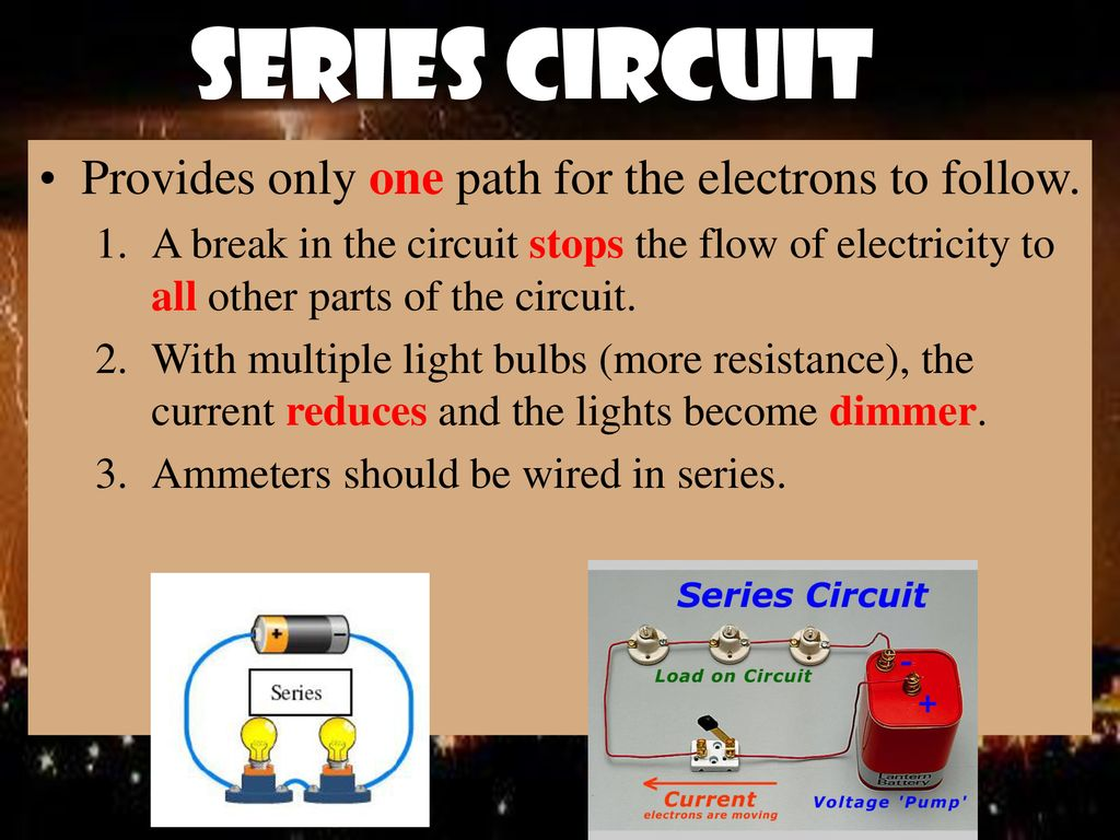 Batteries And Electrical Circuits Ppt Download What Happens To Current In Other Lamps If One Lamp A Series Circuit 9 Provides Only