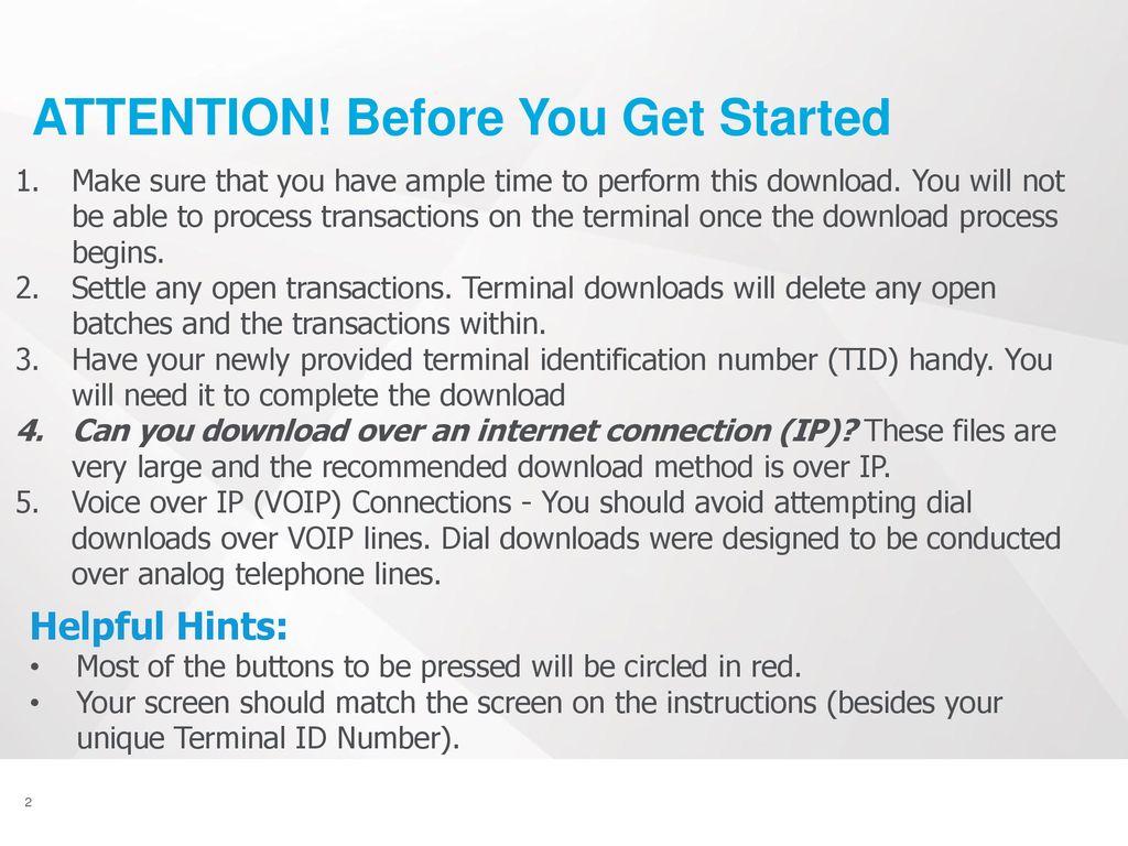 Ingenico ICT250 Download Instructions - IP - ppt download