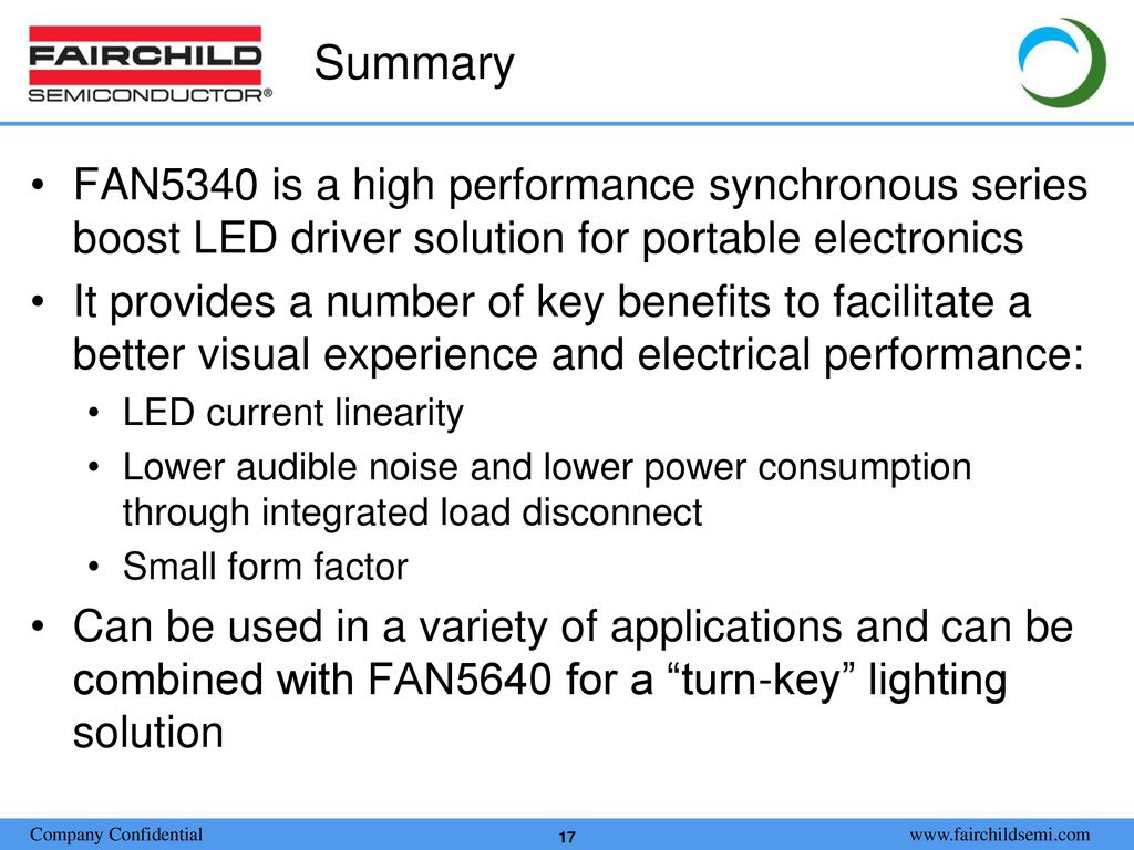 Sales Training Presentation Ppt Download Boost Led Driver For Hb Leds Summary Fan5340 Is A High Performance Synchronous Series Solution Portable Electronics