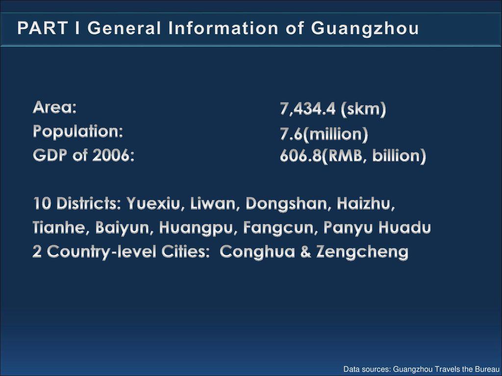 Guangzhou Tourism & Hotel - ppt download