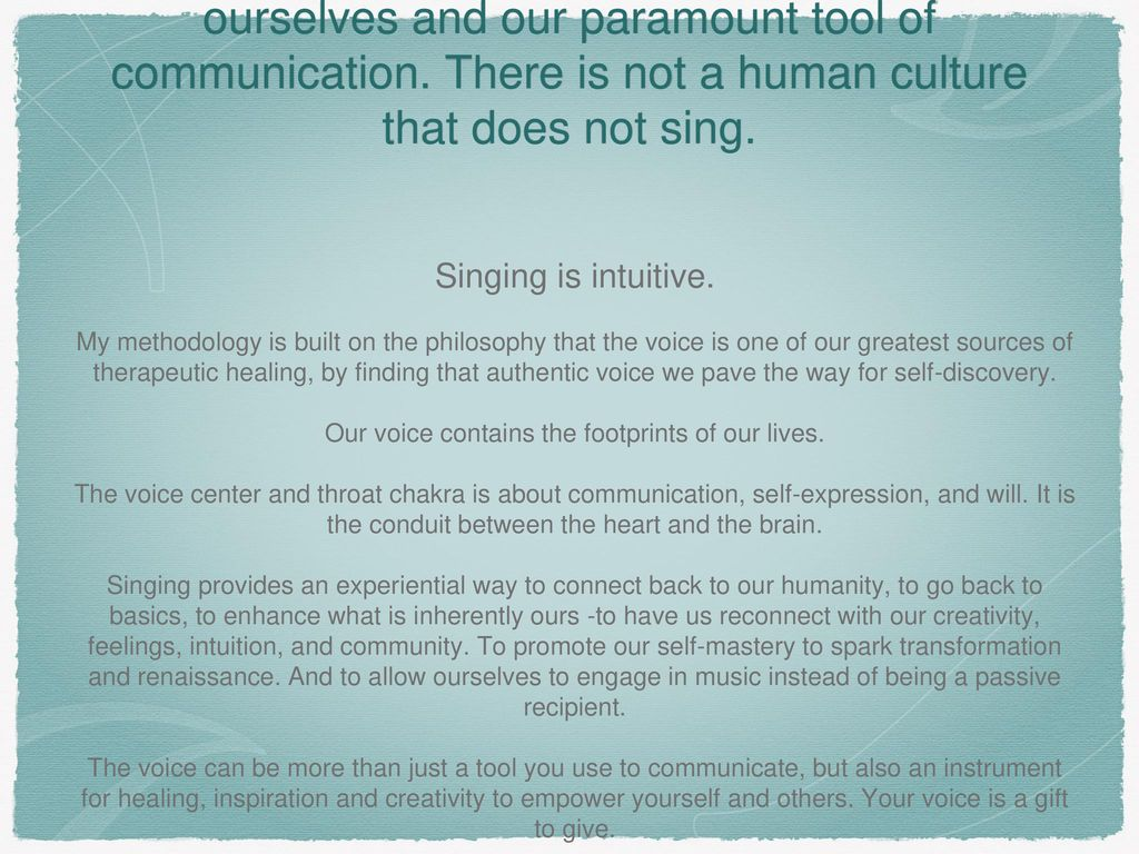 Discover Your Voice: Revolutionize Your Life!TM - ppt download