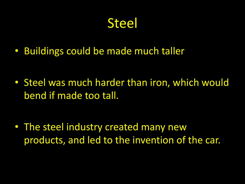 Steel Buildings could be made much taller - ppt download