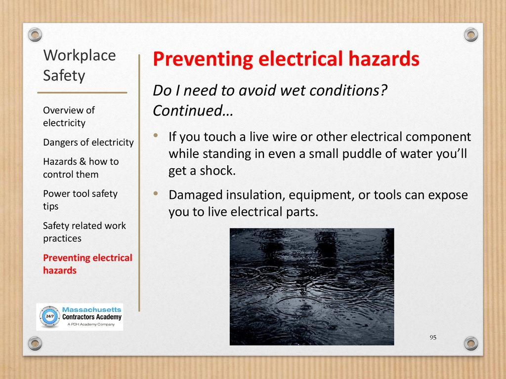 Workplace Safety: Safety Using Electricity - ppt download