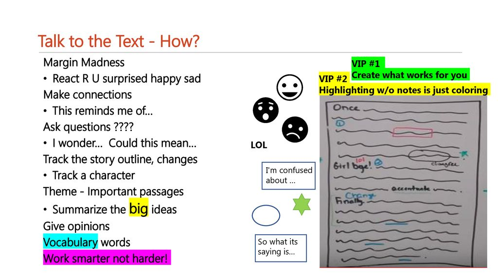 Text annotation Talk to the Text  - ppt download