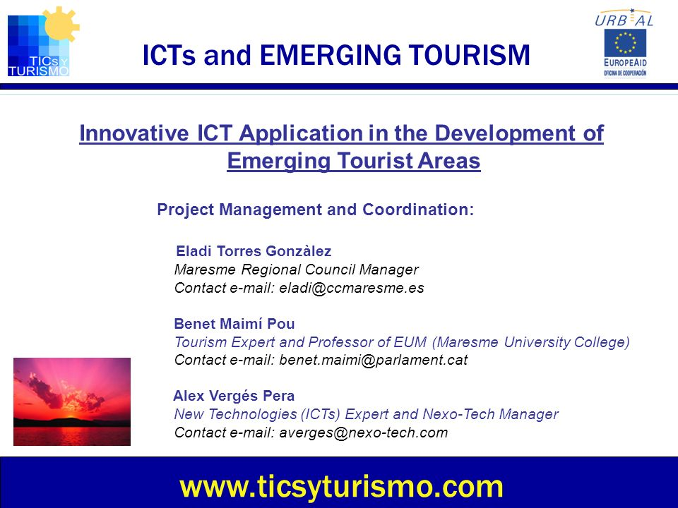 ICTs and EMERGING TOURISM
