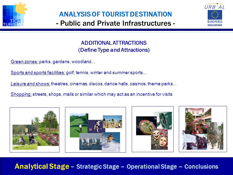 ANALYSIS OF TOURIST DESTINATION - Public and Private Infrastructures -