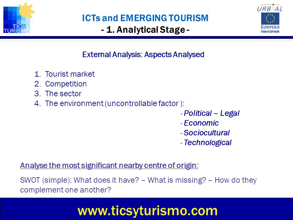 ICTs and EMERGING TOURISM - 1. Analytical Stage -