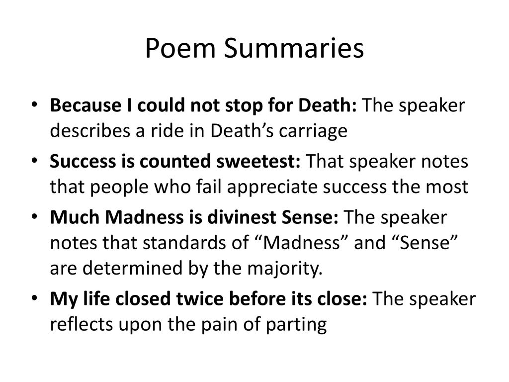 Selected Poem Emily Dickinson Ppt Download Succes I Counted Sweetest Meaning