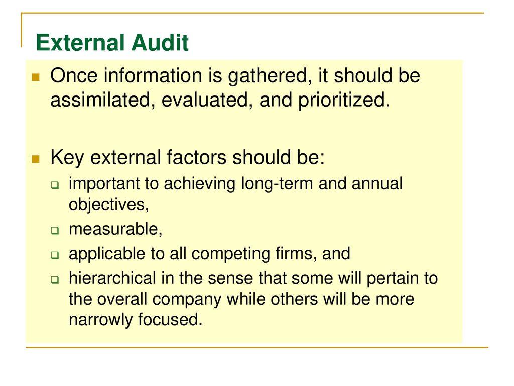PART 4: The External & Internal Assessment - ppt download