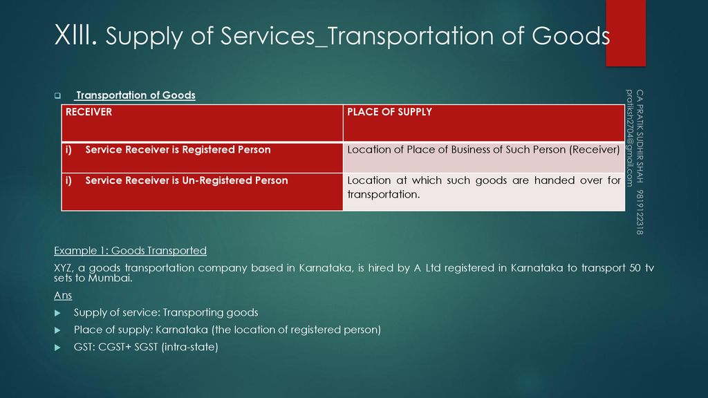PLACE OF SUPPLY UNDER GST - ppt download