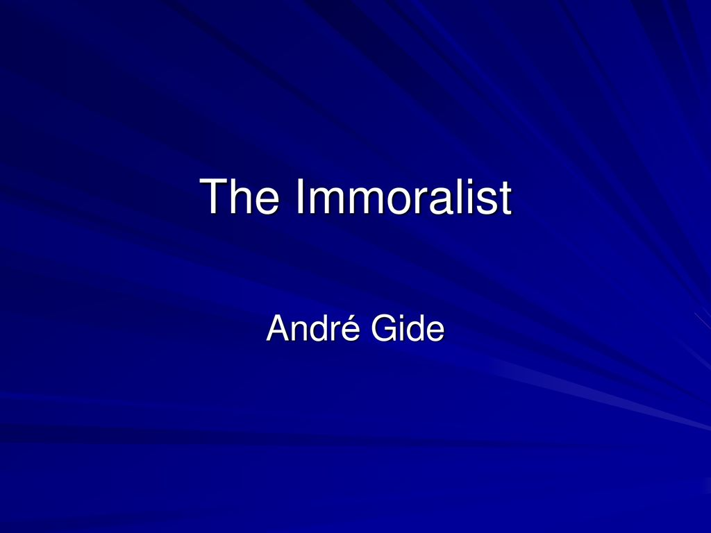 the immoralist summary