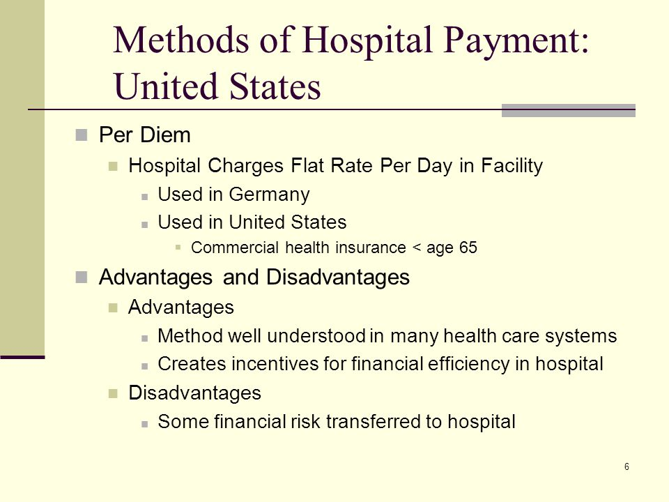 Methods of Hospital Payment: United States