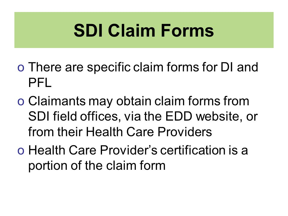 California State Disability Insurance for Health Care