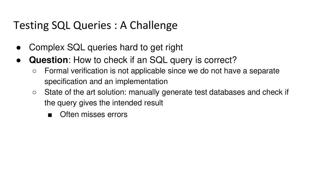 Generating Test Data for Killing SQL Mutants - ppt download