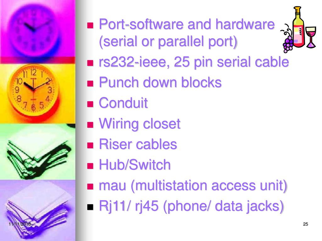 Networking And Telecommunications Ppt Download Rj11 Punch Down Block Wiring 25 Port Software