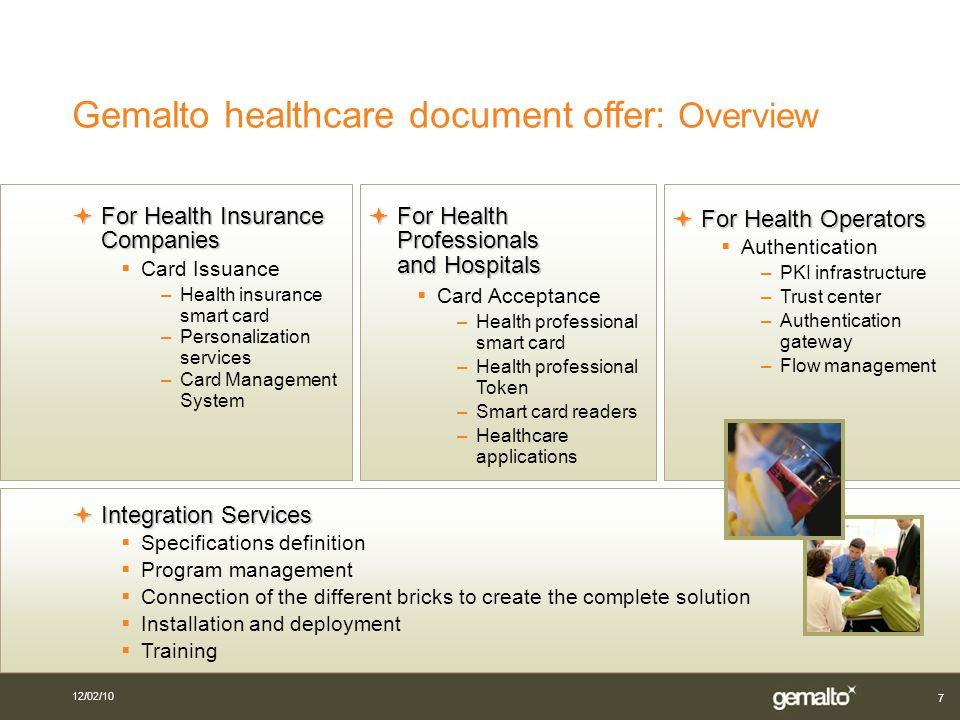 Gemalto in the Electronic Healthcare at the heart of your