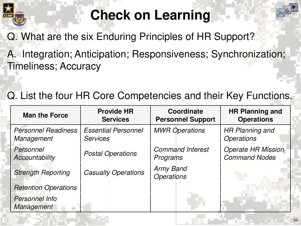 Determine Army Structure and HR Support Doctrine - ppt download