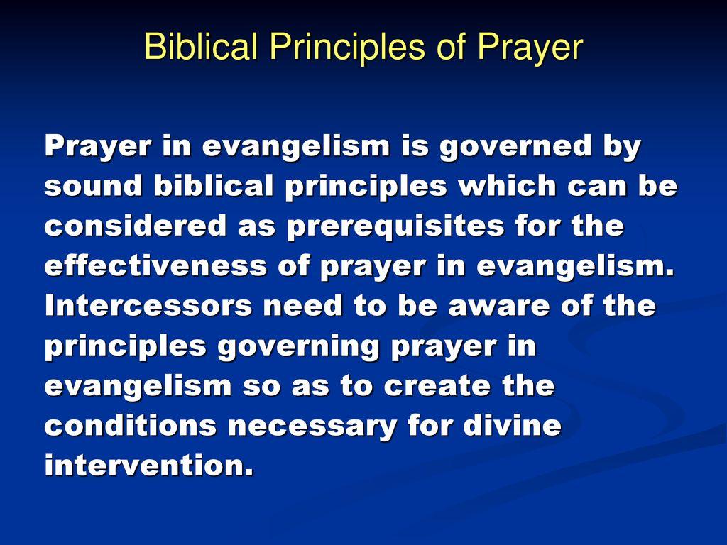 The Power of Prayer in Evangelism - ppt download