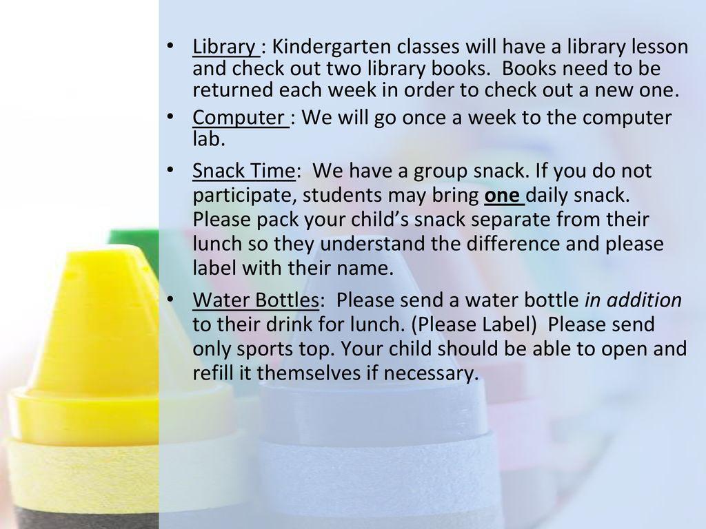 Creekview Kindergarten - ppt download