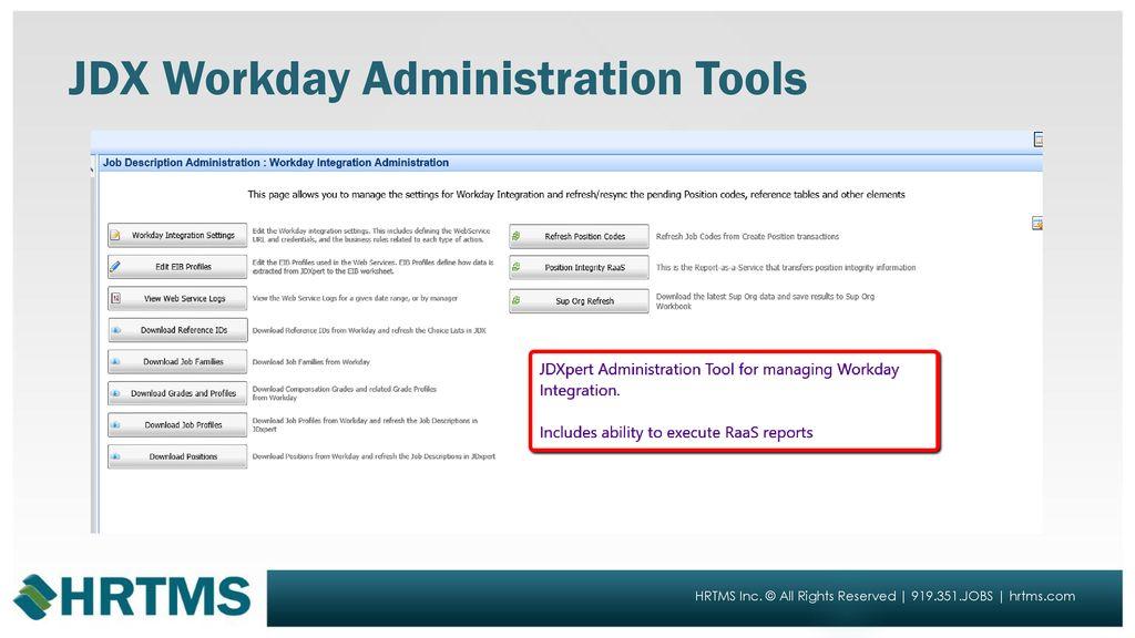 JDXpert Workday Integration - ppt download