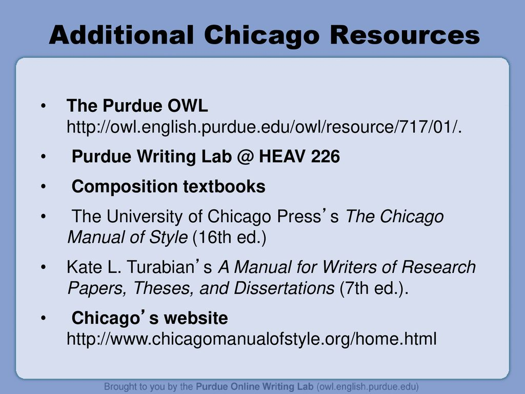 Additional Chicago Resources