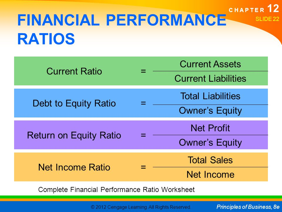 FINANCIAL PERFORMANCE RATIOS