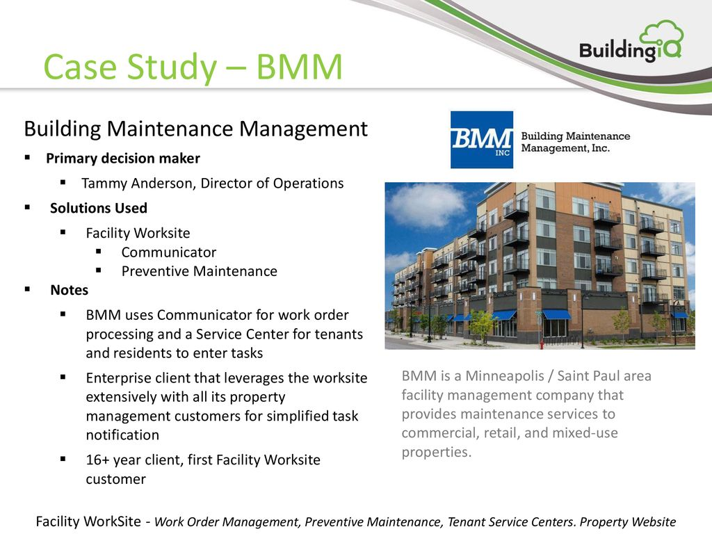 Facility Worksite Work Order Management, Preventive