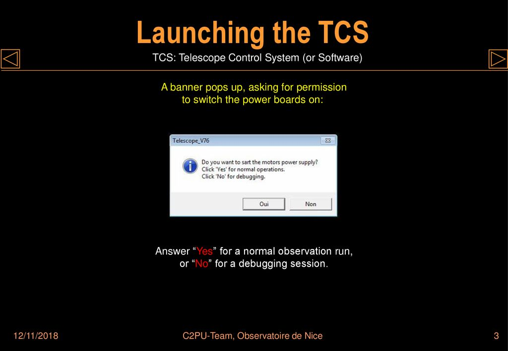 TELESCOPE CONTROL SOFTWARE - ppt download