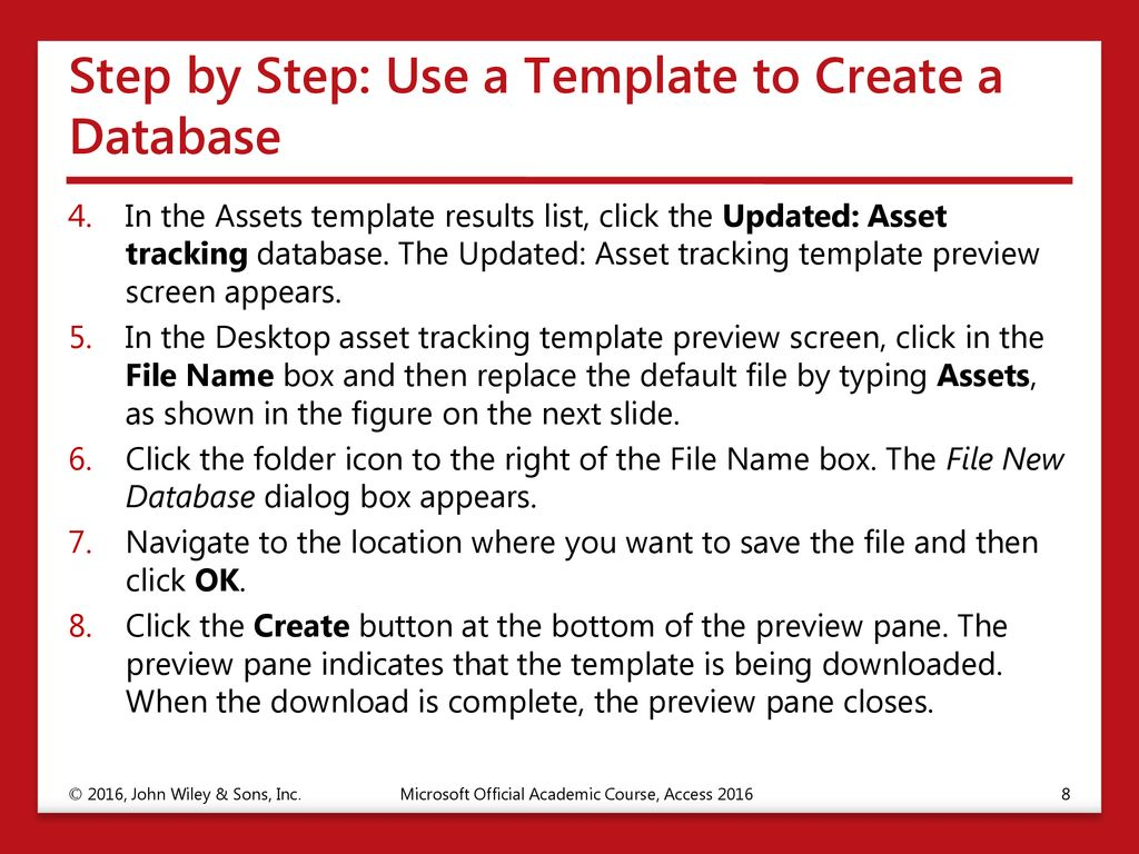 Creating Database Tables - ppt download
