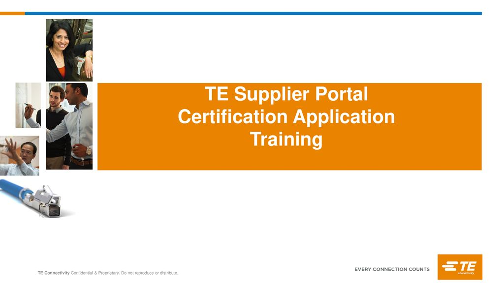 te supplier portal certification application training ppt download