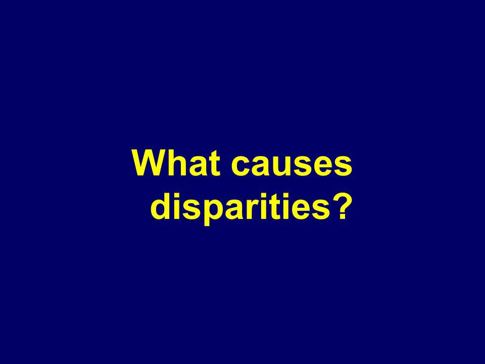 What causes disparities