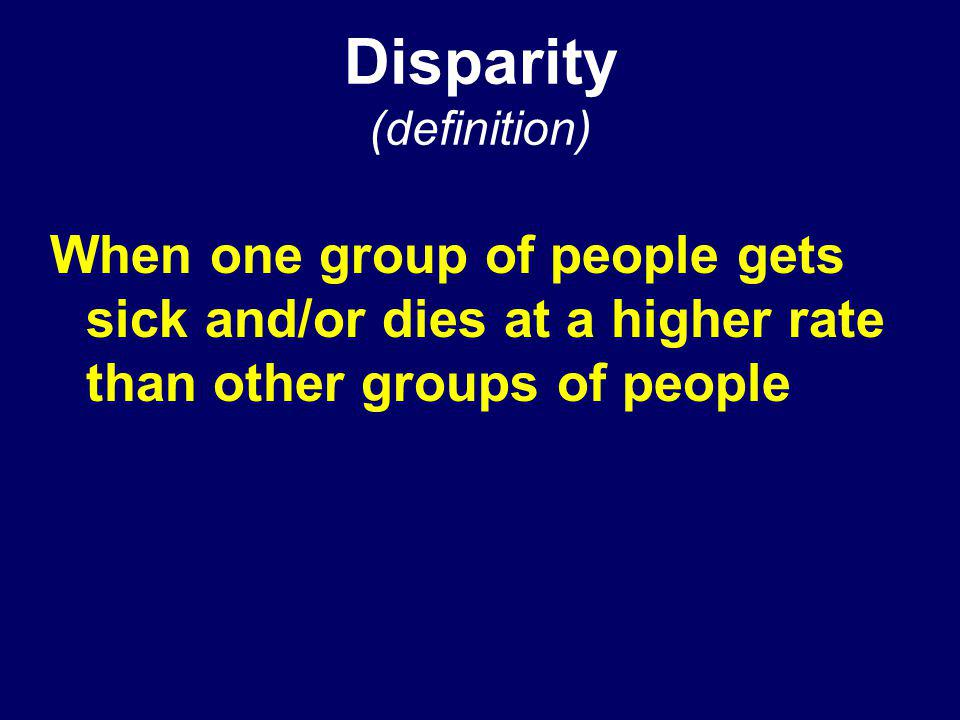 Disparity (definition)