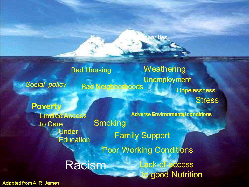 Racism Weathering Stress Poverty Smoking Family Support