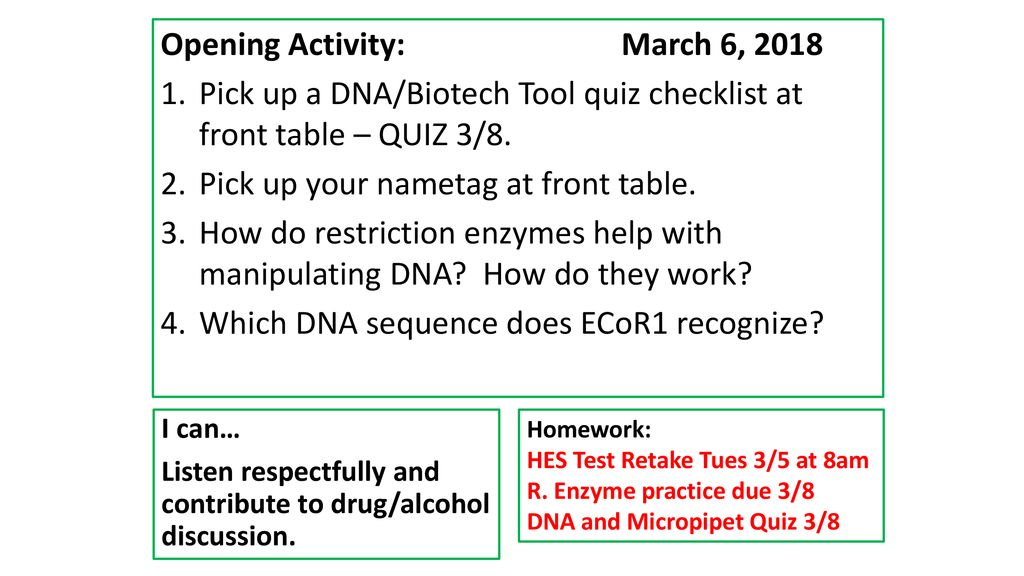 Opening Activity March 5 Ppt Download