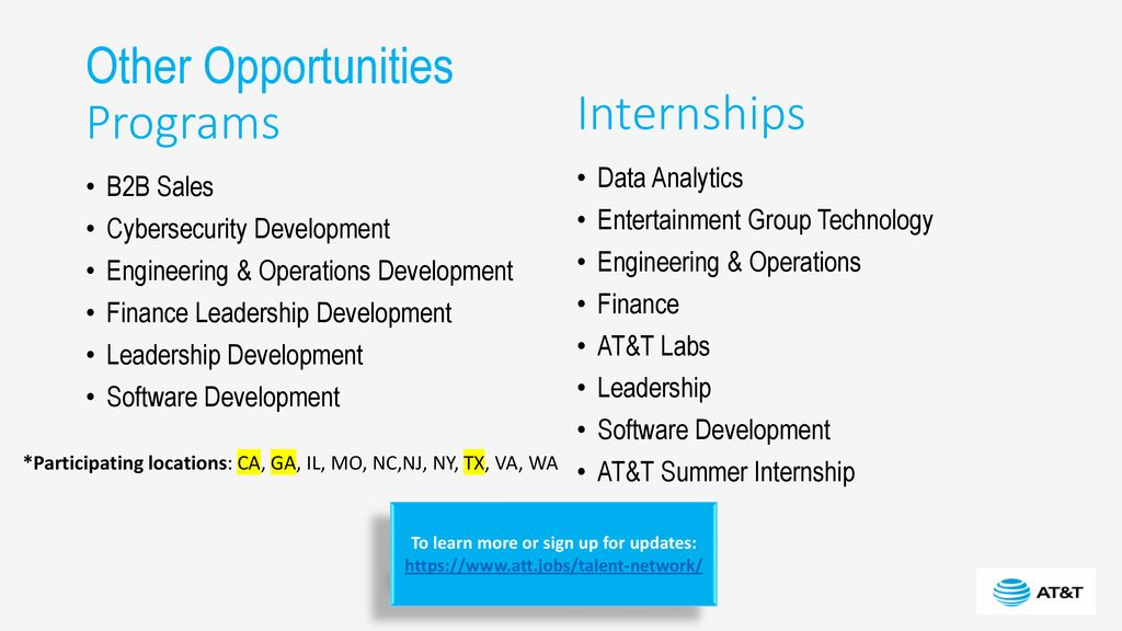Jobs & Careers Available at AT&T - ppt download