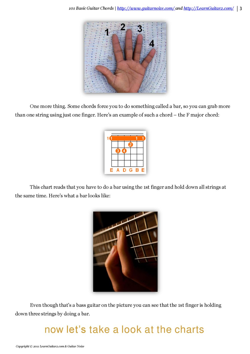 101 Basic Guitar Chords Introduces Ppt Download Strings Diagram Illustration E A D G B Now Lets Take Look At The Charts